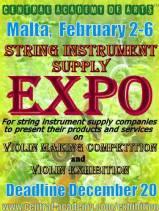 Malta International Violin Making Competition 2018 | Trade Fair | String Instrument Supplier