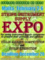 Malta International Violin Making Competition 2019 | Trade Fair | String Instrument Supplier